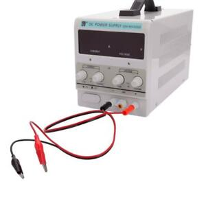 5a Digital Dc Power Supply Variable Lab Bench Test Equipment Tool W clip Cable
