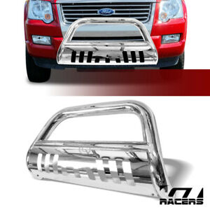 For 06 10 Ford Explorer Chrome S S Bull Bar Brush Push Bumper Grill Grille Guard