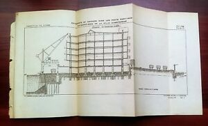 1898 French Cross Section Diagram Of Warehouse Dock And Seaport In Amsterdam