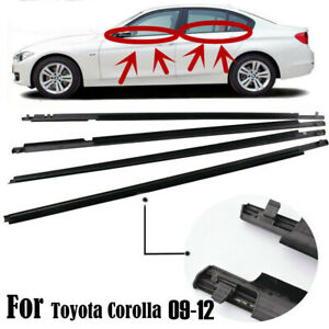 Door Weatherstrip Belt Seal Window Moulding Trim Fit For Toyota Corolla 2009 12