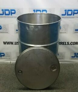 55 Gal 304 Used Stainless Open Head Barrel thickness May Vary