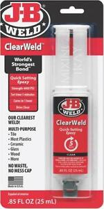 New Jb Weld 50112 Clearweld 85oz Quick Set Epoxy Clear Adhesive Usa 7440894