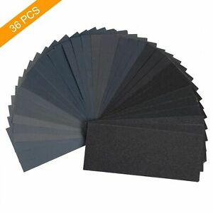 Sandpaper 400 600 800 1000 1200 1500 2000 2500 3000 Grit Wet Dry Assorted Wood