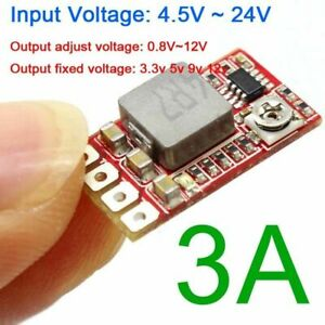 Mini Dc dc Buck Step down Converter Adjustable Power Module 3 3v 3v 5v 9v 12v 3a