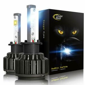 Cougar Motor H3led Headlight Bulbs 7200lm 6k Xenon White in one Conversion Kit