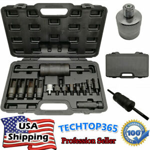 14pcs Diesel Injector Puller Extractor Remover Tool Kit Common Rail Bosch Delphi