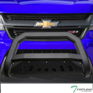 Topline For 2015 2019 Chevy Colorado canyon Avt Bull Bar Grille Guard matte Blk