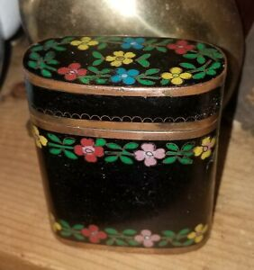 Antique Chinese Cloisonne Tobacco Box