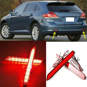 For Toyota Sienna Venza 2011 15 Rear Bumper Reflector Fog Lights Warn Lights W