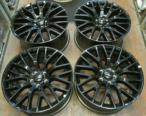 Ford Mustang 19 Inch Factory Oem Gloss Black Staggered Wheels Rims 10036 10038