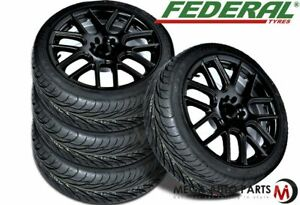 4 Federal Ss 595 195 50zr15 82w All Season Uhp High Traction Performance Tire