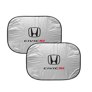 Honda Civic Si Dual Panels Easy Folding Windshield Sun Shade For Cars