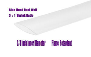 3 4 Clear 22ft 3 1 Ratio Dual Wall Adhesive Lined Heat Shrink Tubing marine
