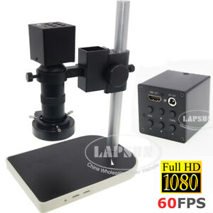 8x 100x Zoom 1080p Fhd 60fps Hdmi C mount Industry Microscope Camera Full Set