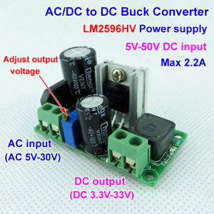 3 3v 5v 6v 9v 12v 24v Mini Ac Dc To Dc Buck Step Down Adjustable Volt Converter