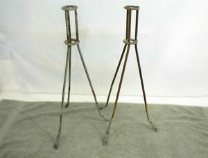 Lightning Rod Tripod Stand X 2 Vintage Antique
