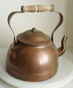 Vintage Copper Kettle Made In Portugal Tea Kettle 22cm Tall