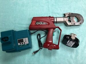 Burndy Patriot Patcut245cual Battery Powered Hydraulic Cable Wire Cutter Tool