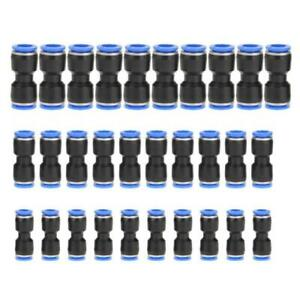 30x Pneumatic Connectors Air Line Fittings Quick Release For Tube 6mm 8mm 10mm