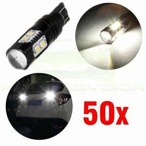 50x 6000k White T10 194 168 921 158 License Plate Led Lights Projector Lens Bulb