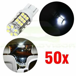 50x T10 921 912 168 2825 W5w White 42smd Backup Reverse Led Bulbs Tail Light