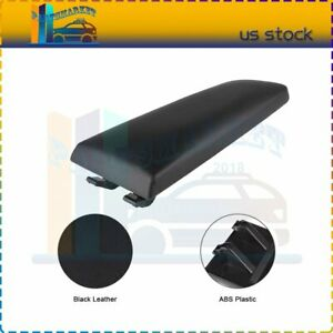 Fits Vw Jetta Golf Mk4 Beetle Armrest Cover Lid Black Pu Leather Center Console