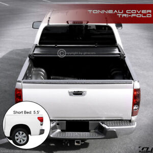 For 2014 2019 Tundra Crewmax Crew Max 5 5 Short Bed Tri Fold Soft Tonneau Cover