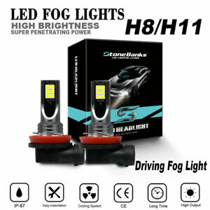 H11 H9 H8 100w Led Fog Light Bulbs Driving Lamp 6000k High Power Hid Replacement