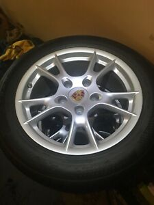 Factory Oem Porsche 987 Wheels And Tires Used Staggered 17