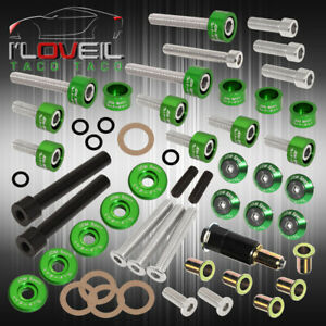 Green D series Acura Jdm Cam Cap Header M6 Drivet Fender Valve Cover Washer Kit
