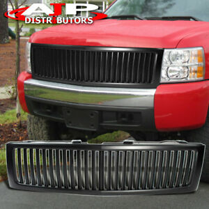07 2012 Chevy Silverado Black Front Hood Mesh Grille Sports Grill Replacement