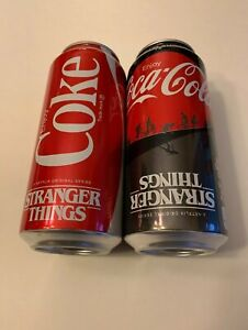 Coca-Cola & Coke Zero STRANGER THINGS 1985 Limited Edition Cans 16 OZ NEW