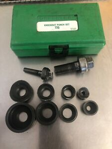 Greenlee Ball Bearing Knockout Punch Set 735bb Usa Conduit 1 2 3 4 1 1 1 4