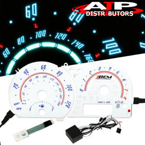 For 2003 2006 Scion Xa Reverse Indiglo Glow Gauge Color Cluster Replacement