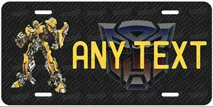 Transformer Bumblebee Personalized License Plate Metal Tag For Car Atv Moped
