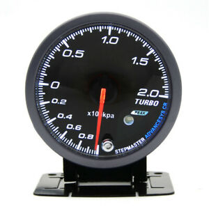 2 5 60mm Racing Car Digital Turbo Boost Gauge 1 2 Bar White Orange Led Light