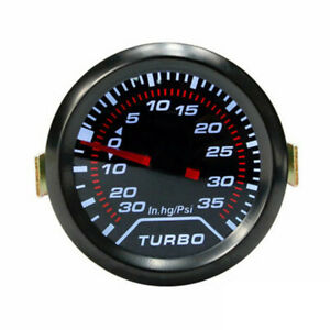 2 52mm Led Digital Turbo Boost Meter Gauge Black Vacuum Pressure Monitor 35 Psi