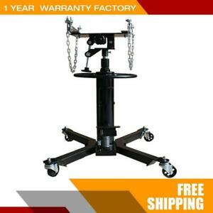 1100lbs High Lift Hydraulic Transmission Jack Foots Pump Spring Loaded New