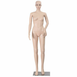 Goplus Full Body Female Mannequin Plastic Realistic Display Head Turns W Base