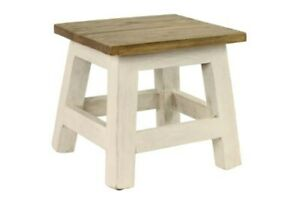 Antique Revival Goya Wood Step Stool Accent Made Of Mahogany In Chic Ich002a Wht