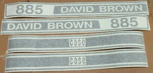 David Brown Case 885 Hood Decals Great Quality