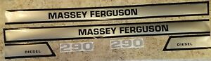 Massey Ferguson Tractor Model 290 Hood Decal Set