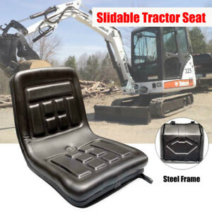 Universal Black Waterproof Seat With Back Rest For Tractor Digger Mower Forklift