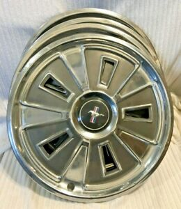 1966 Ford Mustang Hubcaps 14 Set Of 4 Wheel Covers 66 Hub Caps