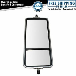16 X 7 Stainless Steel West Coast Convex Mirror Bubble Back For Hd Semi Truck