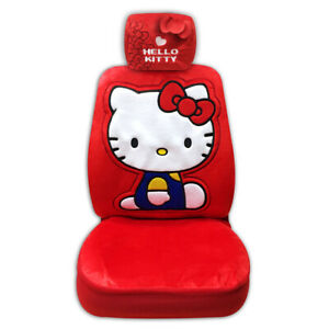 Official Hello Kitty Plush Doll Toys Car Accessories Seat Cover Head Rest Cover