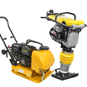 Usa 6 5hp Water Tank Gas Vibratory Compactor W Gas Tamper Jumping Jack