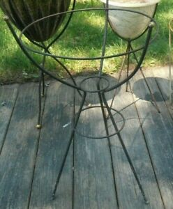 Frame Only Mid Century Wire Stand For Fiberglass Bullet Planter Vintage Atomic