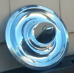 Custom Corvette Hot Rod Chrome Aftermarket Bullet Rally Wheel Center Cap Hubcap