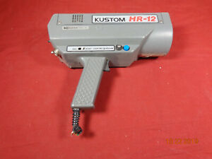 Kustom Hr 12 Hr12 Pistol Grip Radar Gun Speed Detector Police Dps New Style